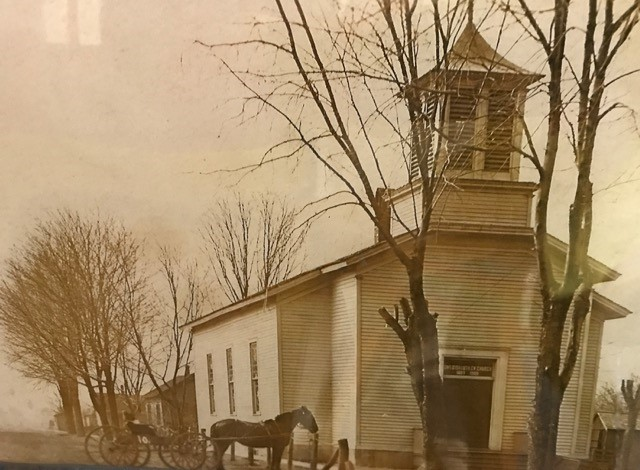 Zion - Pic (Horse and Buggy at Church) - 2-14-18